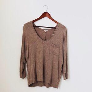 Bordeaux•Brown Long Sleeved Shirt
